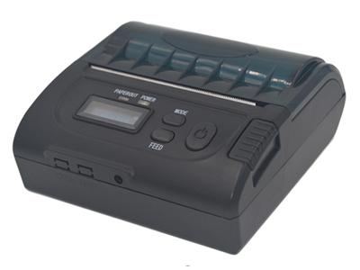 资江 ZJ-8002  1.拥有多功能液晶显示屏,能够直观的看到打印机的型号名称、工作状态、电量显示。等等;2.拥有缺纸提醒功能打开纸仓自动显示缺纸。3.产品具有体积小、重量轻、性能可靠、连接简单、使用方便,营运成本低(无需色带、墨盒)。主要适用范围有:移动警务系统、烟草配送系统、公用事业抄表系统、移动办公/移动物流系统、便携式仪器仪表/检测设备配套设备。
