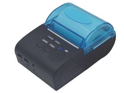 资江 ZJ-5805   1.拥有透明盖大纸仓能够放入57x50mm热敏纸比普通蓝牙打印机更耐用。2.拥自动休眠、自动唤醒,节省电能,延长使用时间的功能。3.支持电池容量显示功能。这款便携式打印机广泛运用于抄表业、保险业、仓储业、物流业、警务通等行业。
