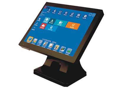 君容 C565+   主板:信步1037工控主板;内存:DDR2 2G;硬盘:32G插卡电子硬盘;显示屏:15寸LCD液晶屏;触摸屏:全平面高品质电阻触摸屏(纯平机);客显:L8D8;12寸LCD液晶屏(C576P);电源:12V/5A;颜色:紫黑色;