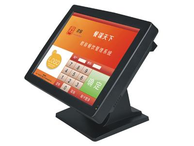 君容 C563   主板:D525工控主板;内存:DDR3 2G;硬盘:32G插卡电子硬盘;显示屏:15寸LCD液晶屏;触摸屏:四线电阻触摸屏;顾显:LED8;电源:12V/5A;颜色:哑黑