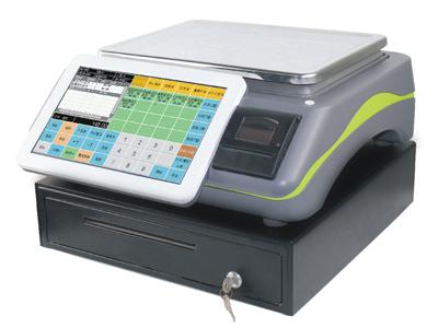 君容 C598  主显液晶:11寸LED背光;触摸屏:11寸工业电阻屏;主板/CPU:嵌入式主板/ARM9;顾客显示屏:4行液晶高亮显示;接口:串口:2个,USB口:2个,钱箱口(12V):1个;支持外设:标签打印机,58/80厨房打印机,条码枪
