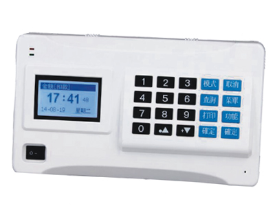 君容 挂式CS8500T   卡号个数:20亿个;黑名中数10万个;记录条数:6000条;报作员个数:100个;挂式消费机;显示方式:3.5寸彩屏液晶显示;工作电源:220VAC±10\%;后务电源:≥4小时;