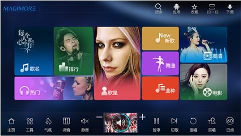 双系统点歌机 安卓点歌机 家庭点歌机 云猫点歌机安卓系统 无线连接 唱歌 看电影 云猫点歌机