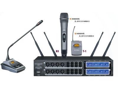 杰森 K802 一拖八无线会议话筒  1八通道;2.740MHz-790MHz;3.200 频点可调;4.PLL 锁相环技术