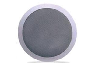 天花喇叭CT-K104/CT-205/CT206   3W/6W,5″单元,锌网喷塑,ABS塑料,频响90-15KHZ,外观尺寸φ168*65,开孔尺寸φ145