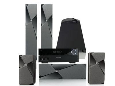 JBL STUDIO 180BK+ 哈曼卡顿151S功放 音箱 音响 家庭影院套装 音响套装 5.1声道 落地影院