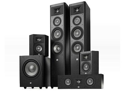 JBL Studio 280BK 音箱 音响 家庭影院套装 音响套装 5.1声道 落地影院