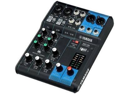 雅马哈 MG06 6路模拟调音台