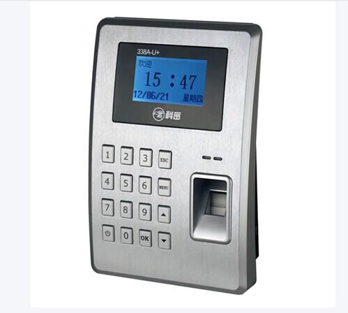 科密338A-U考勤机  产品类型指纹考勤机验证方式指纹,密码存储容量指纹容量:2000枚,记录容量:50000条采集器免镀膜的全反射光学指纹头