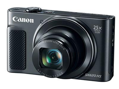 Canon/佳能  SX620    传感器:1/2.3英寸;有效像素:2020万;显示屏尺寸:3英寸;显示屏像素:92.2万像素液晶屏;连拍速度:约2.5张/秒;快门速度:15-1/2000s;电池类型:可充电锂电池;