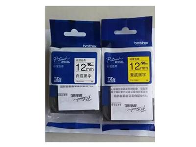 兄弟标签机色带TZe-FX231 631 9mm 12 18白底黑字线缆标签纸