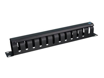 天誠 封閉式理線架 理線架的使用相對比較簡單,一般安裝在機柜里,用于規整配線架前端的跳線