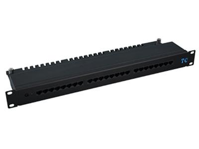 天誠 POE 24口超五類非屏蔽配線架 1000 BASE-T千兆以太網;100 BASE-T快速以太網;10 BASE-T以太網;語音,視頻及其它應用管理區域內語音、數據等信息的連接