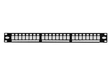 天誠 24口非屏蔽空配線架(帶防塵門) 配線架空架,與標準RJ45模塊組合,組合后用于1000 BASE-T千兆以太網;100 BASE-T快速以太網;10 BASE-T以太網;語音,視頻及其它應用管理區域內語音、數據等信息的連接