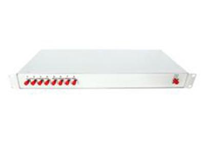 """機箱式分路器    """"● 19寸標準結構設計,尺寸緊湊、適應范圍廣,可根據客戶要求提供不同的適配器接口,標配      為SC。相對于壁掛式方案,具有更高的性價比。分光器技術指標符合YD/T893的行業標準      要求。"""""""