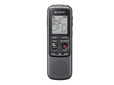 索尼PX240-4G普及型    本机主要用途:常规使用。支持降噪,黑色,小巧机身,在LP录音模式下可进行长达约535小时的录音(LP录音模式下)普通7号电池