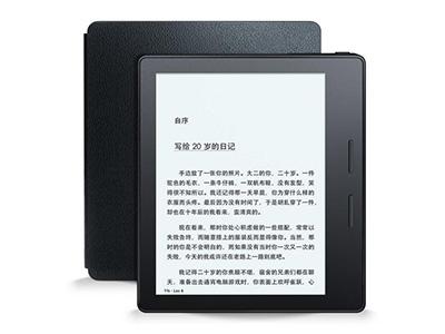 亚马逊Kindle Oasis 尊贵    3.4 毫米轻薄机身*, 彰显纤薄之美。 皮质保护套自带电池,配合机身电池,令待机长达数月。 内置重力感应器,屏幕在左/右手握持时自动翻转。 300ppi 超清电子墨水屏,还原纸书阅读体验。