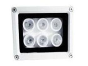 """6灯白光灯(12V) """"灯管数量:6颗1W大功率LED白光点阵灯; 输入电压:DC12V; 外壳材质:全铝合金外壳; 防护等级:IP65; 启动方式:光控开关自动控制,精准的恒流驱动电路 功    率:6W """""""