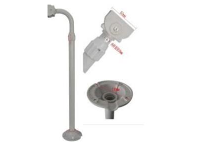 1012U 材质:铝合金 长度:60-1.2米可以调节 底盘:130mm  外管:35m内管:38mm