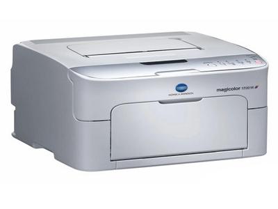 """柯尼卡美能达 1700W    """"产品类型:彩色激光打印机 最大打印幅面:A4 黑白打印速度:20ppm 最高分辨率:1200×600dpi 耗材类型:鼓粉分离 进纸盒容量:标配:200页 网络打印:不支持网络打印 双面打印:手动"""""""