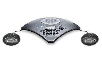 中兴 ZXV10 A300PVE 高清会议电话 会议电话系列是中兴通讯推出的复合功能型VoIP会议电话终端。A300PVE采用新一代的SonicClear III语音处理技术,自适应于200Hz-16KHz的全双工回音抵消,包括基于频域算法的声学回音抵消器、自动增益控制、动态噪音抑制和智能麦克风算法等技术,同时运用语音通信产品先进技术功能打造的新一代复合功能型VoIP会议电话系列