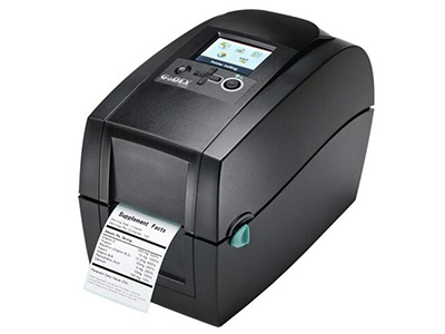 """科诚 RT200i    """"打印方式 热转式/热感式 条码打印机分辨率 203dpi 打印速度 177mm/s 打印宽度 54mm 最大打印长度 1727mm 标签宽度 15-60mm 标签厚度 0.06-0.2 碳带长度 11000mm 碳带宽度 56-59mm 内存 8MB"""""""