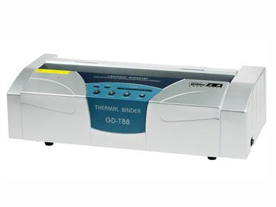 金典 GD-T88  产品类型: 热熔式装订机 装订规格: 手动20张/次 装订厚度: 40mm 产品重量: 11.2kg 其它特性: 超宽超厚装订,弹