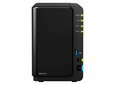群晖DS216+II网络存储器NAS家庭云存储服务器家用私有云