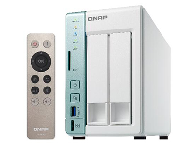 威联通QNAP TS-251A NAS网络存储 2G 4G内存两盘位私有云存储