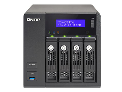 威联通QNAP TS-453Pro 2G NAS内存网络存储 四核CPU 四千兆网口