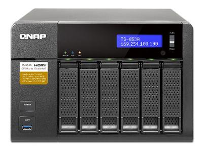 威联通QNAP TS-653A 4G 支持实时影音转档的高效能双核心 NAS