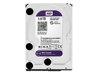 """西部数据 WD10PURX 1TB 紫盘 企业级监控硬盘    """"适用机型: 台式机 硬盘容量: 1TB 硬盘转速: 7200转 缓存容量: 64MB 接口类型: SATA3 尺寸: 3.5英寸"""""""