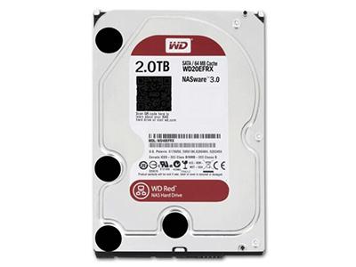 """西部数据 WD20EFRX 2T 台式机硬盘2TB红盘64M NAS专用    """"适用机型: 台式机 硬盘容量: 2TB 硬盘转速: 7200转 缓存容量: 64MB 接口类型: SATA3 尺寸: 3.5英寸"""""""