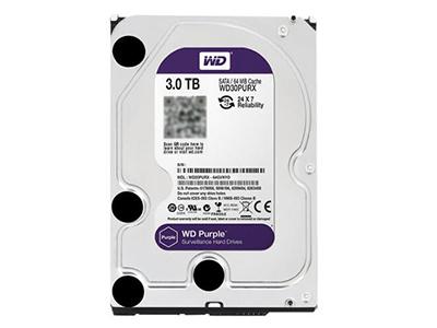 """西部数据 WD30PURX 台式机紫盘3TB 企业级监控硬盘64M 3T    """"适用机型: 台式机 硬盘容量: 3TB 硬盘转速: 7200转 缓存容量: 64MB 接口类型: SATA3"""""""