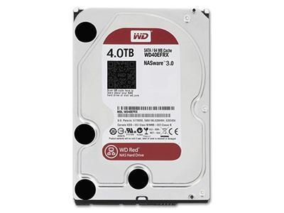 """西部数据 WD40EFRX 西数4T红盘NAS服务器 监控硬盘企业级硬盘    """"适用机型: 台式机 硬盘容量: 4TB 硬盘转速: 5400转 缓存容量: 64MB 接口类型: SATA3 尺寸: 3.5英寸"""""""