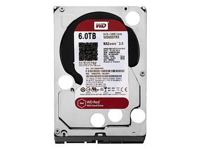 """西部数据 WD60EFRX 西数6T红盘 6TB台式机硬盘3.5寸NAS    """"适用机型: 台式机 硬盘容量: 6TB 硬盘转速: IntelliPower 缓存容量: 64MB 接口类型: SATA3 尺寸: 3.5英寸"""""""
