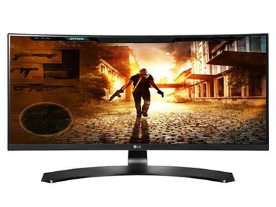 "LG 29UC88-B    ""产品类型: LED显示器,广视角显示器,曲面显示器 产品定位: 电子竞技,设计制图 屏幕尺寸: 29英寸 面板类型: IPS 最佳分辨率: 2560x1080 可视角度: 178/178° 视频接口: HDMI×2,Displayport 底座功能: 倾斜:-5-20°,升降:120mm"""