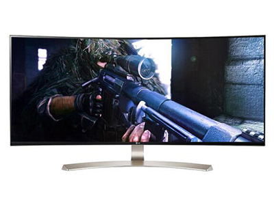 "LG 38UC99    ""产品类型: LED显示器,广视角显示器,曲面显示器 产品定位: 电子竞技,设计制图 屏幕尺寸: 38英寸 面板类型: IPS 最佳分辨率: 3840x1660 可视角度: 178/178° 视频接口: HDMI,Displayport 底座功能: 倾斜:-5-15°,升降:110mm"""