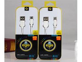 """米耳 D1A(V8)2米线 """"适用:安卓/此类接口产品    特性:刷机专线,急速充电   版本:USB2.0   线长:2m   颜色:白色   重量:约6g  产品特点: 1.USB2.0接口,完全兼容 2.采用德国进口PVC、PC材料,柔软耐扯拉,不易变色。 3.传输铜丝:78根纯铜丝,远超标准,提高充电速率。 4.内置独有高弹力纤维纱防断丝,可承受30kg拉力。 5.端子镀金工艺,防腐蚀,耐摩擦,减少接触电阻"""""""