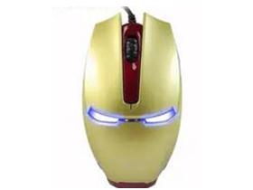 """极顺 钢铁侠 """"大包装,三色发光, 钢铁侠造型 拉风帅酷 1600DPI 超高扫描频率 人体工学外形设计 表面过UV ABS工程塑料 稳定 精准 耐用 健康"""""""