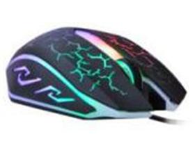 火力王 Q5 终极火力 3D酷炫七彩灯游戏鼠标1000DPI                  带配重块设计 。              专业游戏拉丝线