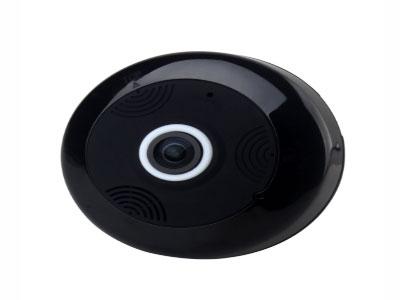 天敏 IPC70FV  52 1,F1.44 焦距  360度鱼眼高清摄像头 不仅全景,还是高清 1280*960分辨率 2,可挂墙 可顶装 壁装180度,无需转动 无盲点 无死角 一次看清全屋 有效面积100平方;相比传统摄像头更省成本; 3,通电即可用,无需繁琐布线; 4,双向语音对讲 本地录像录音功能 内嵌麦克风,实时监听 5,多种视角观看模式,支持苹果系统和安卓系统 6,自带3个红外led,夜晚也能一览无余;