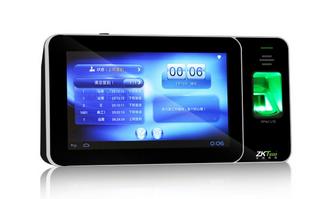 郑州中控XPAD U10安卓考勤机7寸大屏显示 全触摸操作 免软件考勤机
