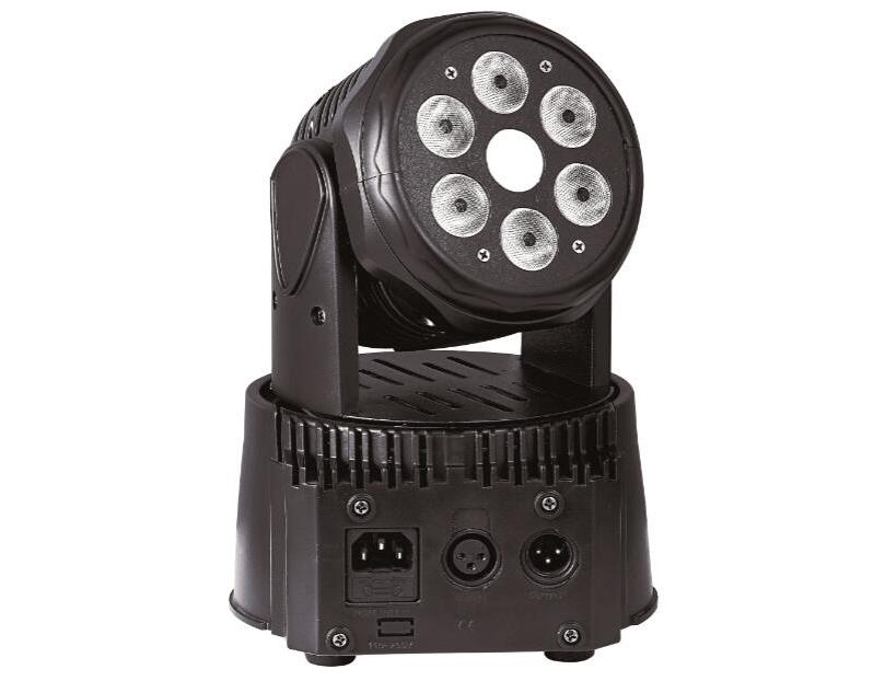 帕灯 FH-70D 6颗染色+激光摇, 电源:AC90-240V 宽电压 50-60Hz                         功率:100W                                               光源 :激光150mW+LED科锐灯珠+6*8W(RGBW)               控制:DMX512控制,自走,声控,主从联机                    通道:19/14通道                                         出光角