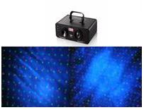 帕灯 T-805 激光颜色:单蓝LED,红,绿 激光功率:绿光50mW,红光100mW,单蓝LED:3W 波长:532nm的绿色,红色为650nm 播放模式:声控,自动,DMX512 激光图案:蓝色LED +萤火虫一闪一闪的效果 扫描仪:N1.8高精密步进电机 电源:100-240V,50/60HZ,25W 内盒:33.6*24.2*17厘米 外箱:50*35.2*36.7厘米  4台/件 重量:3.5KG/4KG