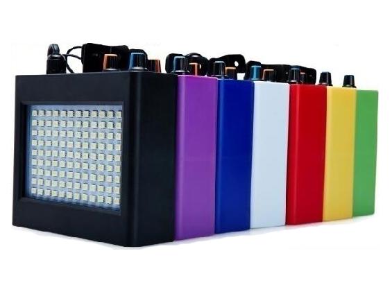 屏闪灯光系列  108颗频闪,功率:25W-30w,电压:AC90V-240v,50/60HZ,功能:声控、自走,可调快慢,彩光