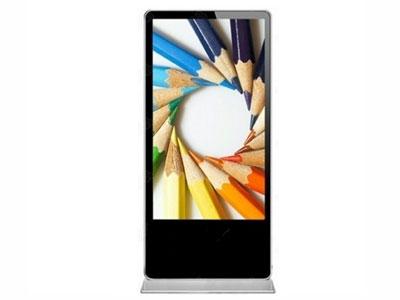 海曦蓝 立式数字标牌  产品类型: 落地式数字标牌 屏幕尺寸: 84英寸 分辩率: 1920x1080 屏幕比例: 16:9(宽屏) 亮度: 500cd/㎡ 对比度: 5000:1(动态),3500:1(静态) 通信接口: USB2.0,RS232 安装方式: 立式柜机