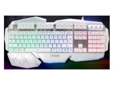 优派 AK-47  网吧有些键盘,宽大手托,悬浮按键设计,双色注塑键帽,彩虹字体发光
