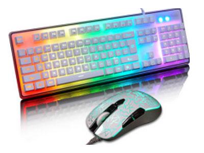优派 CU3100  悬浮按键 防尘防水 游戏电竞专用 炫彩混光灯效 RGB背光套装