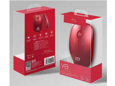 富德 无线鼠标V8中国红